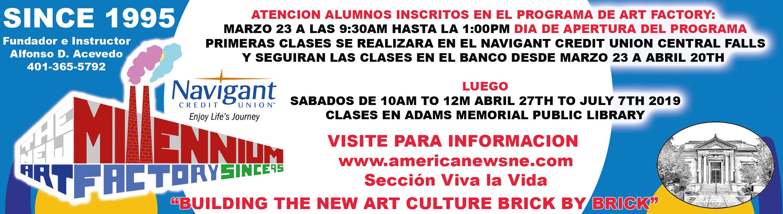 Art classes at the New Millennium Art Factory begin soon!